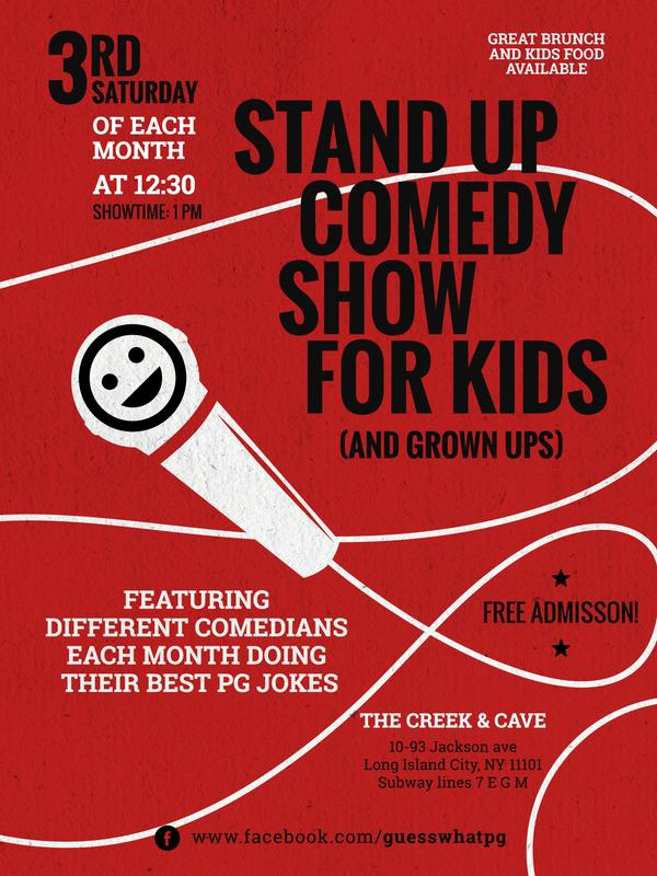 Guess What Family Comedy Show at The Creek and the Cave Comedy Club