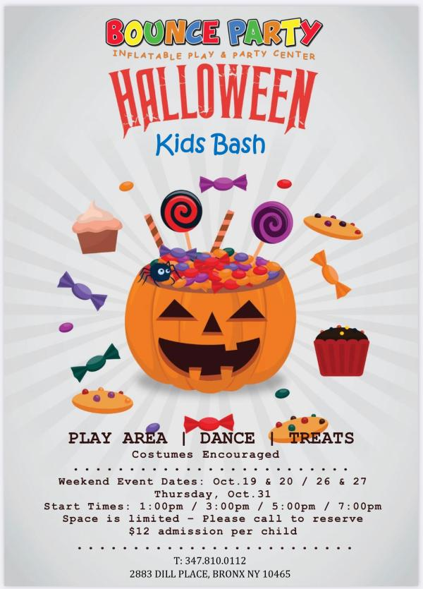 Kids Halloween Party at Bounce Party