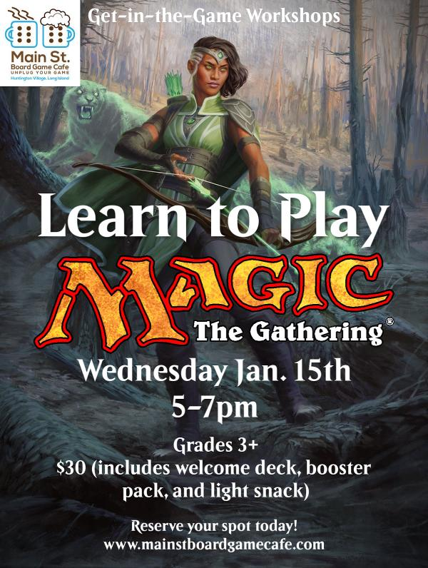 Learn to Play Magic: The Gathering at Main St. Board Game Cafe