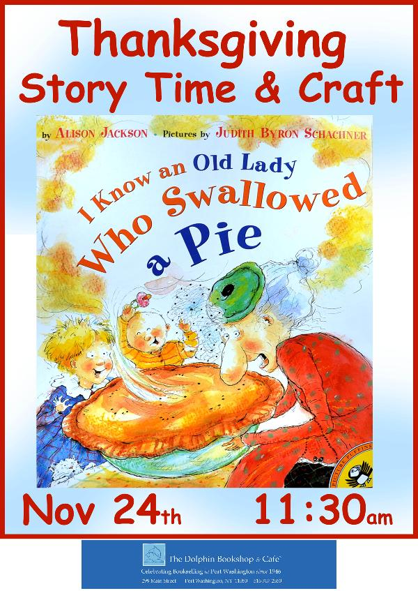 Thanksgiving Story Time & Craft at The Dolphin Bookshop at The Dolphin Bookshop