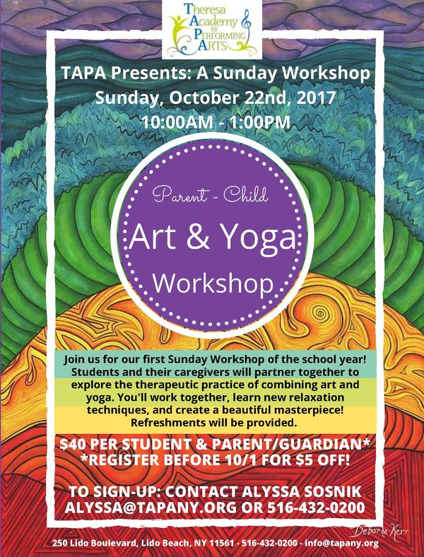 Parent-Child Art & Yoga Workshop at Theresa Academy of Performing Arts