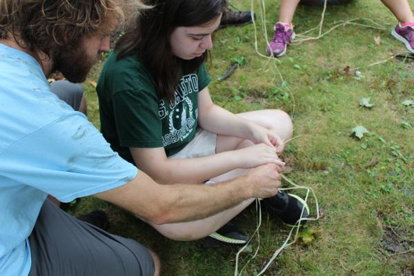 Earth Living Skills for Children: Cordage: Making Rope from Natural Fibers at Threefold Educational Center