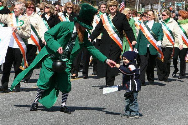 The 2020 Glen Cove St. Patrick's Day Parade at Forest Avenue