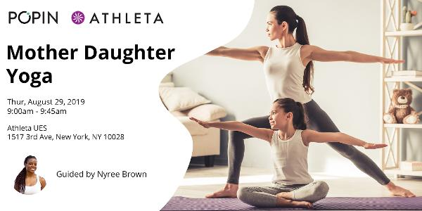 Mother Daughter Yoga with Popin at Athleta at Athleta UES