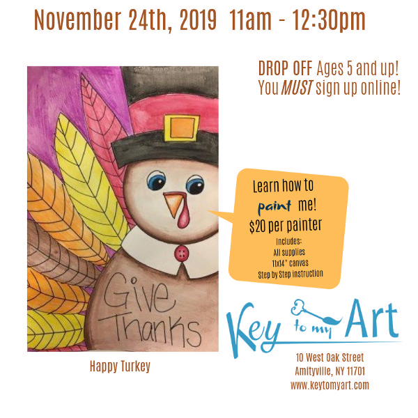 Thanksgiving Paint Event at Key to My Art
