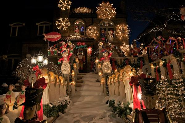 Neighborhood Christmas Lights at Dyker Heights