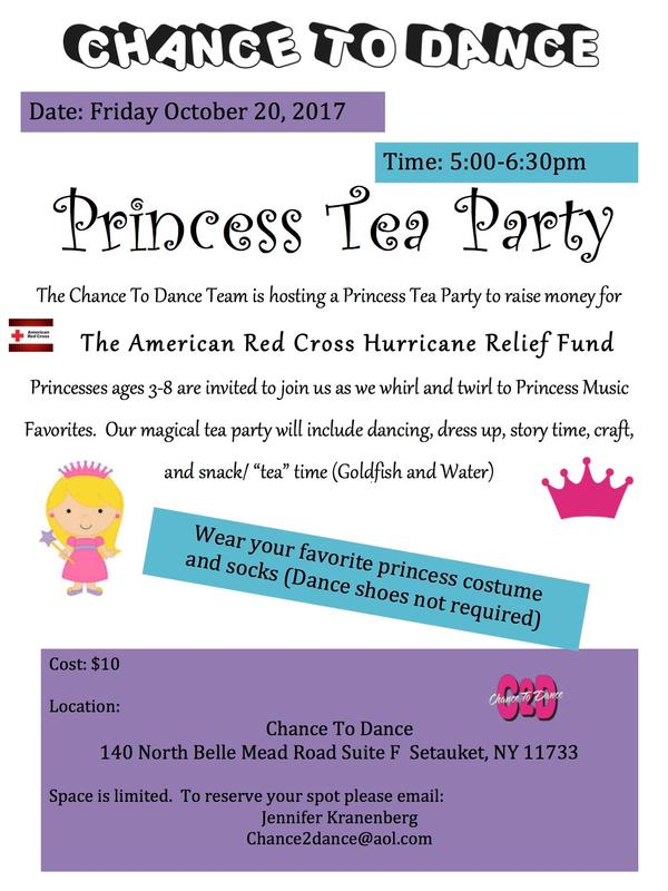 Princess Tea Party at Chance To Dance