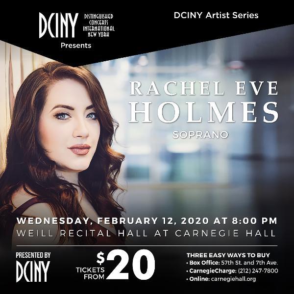 Rachel Eve Holmes, Soprano at Weill Recital Hall, Carnegie Hall