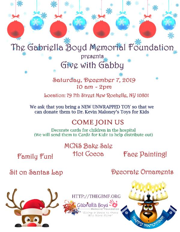 The Gabriella Boyd Memorial Foundation presents 'Give with Gabby' at Boys and Girls Club of New Rochelle