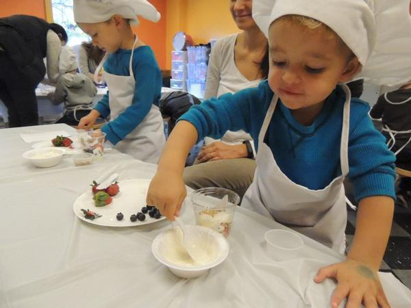Kids in the Kitchen: Parfait Pancake Taco at Long Island Children's Museum