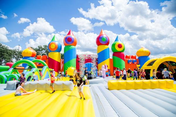The World's Biggest Bounce House Comes to Brooklyn at Aviator Sports and Events Center