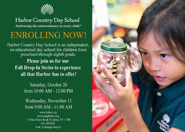 Harbor Country Day School Fall Drop-In Series at Harbor Country Day School