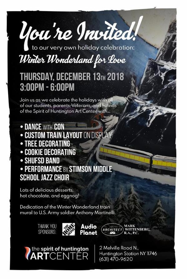 Winter Wonderland for Love at Spirit of Huntington Art Center