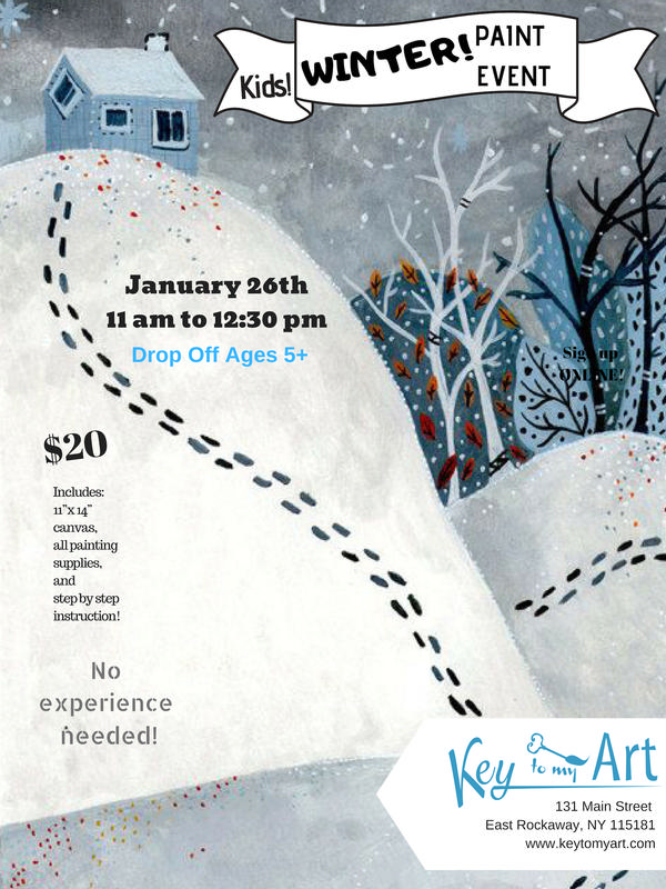 Winter Paint Night - Paint Event at Key to My Art East Rockaway