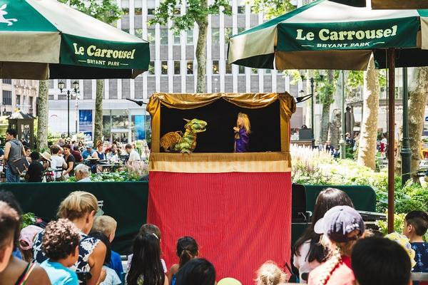 Le Carrousel Puppet Shows at Bryant Park Carousel
