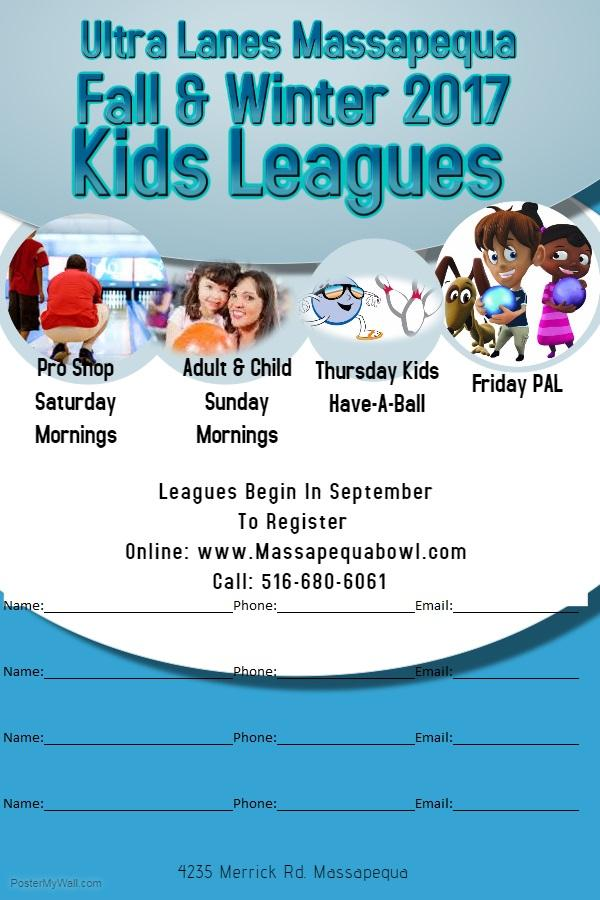 Kids Leagues at Massapequa Bowl