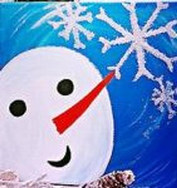 Snowman Portrait at Picasso Kidz