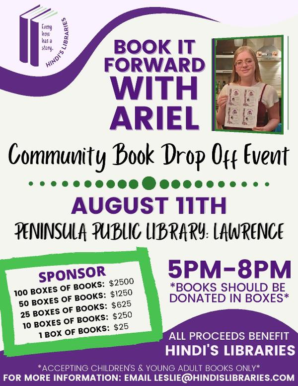 Book it Forward with Ariel at Peninsula Public Library