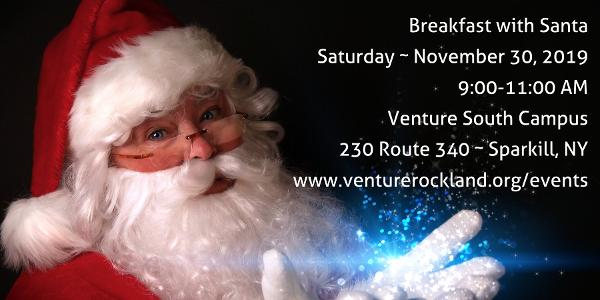 Breakfast with Santa at Venture Hall