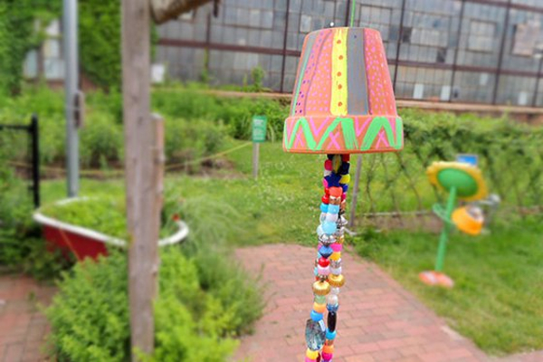 Whimsical Wind Chimes at Long Island Children's Museum
