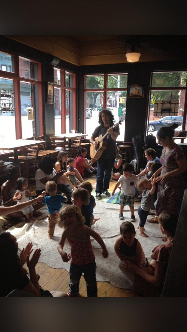 Sing-along with Mike Messer of the Dirty Sock Fun Time Band at Dean Street