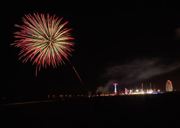 Karaoke and Fireworks at Coney Island Beach and Boardwalk