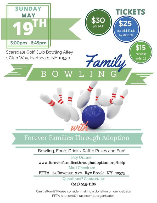 Family Bowling with FFTA at Scarsdale Golf Club