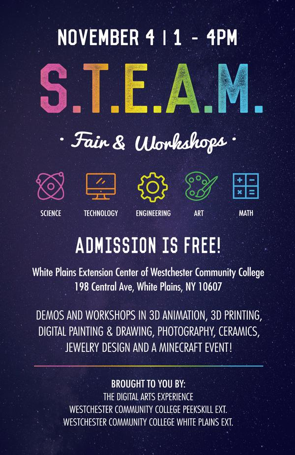 STEAM Fair at Westchester Community College Center for the Arts