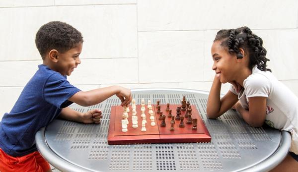 Chess at Island Trees Public Library