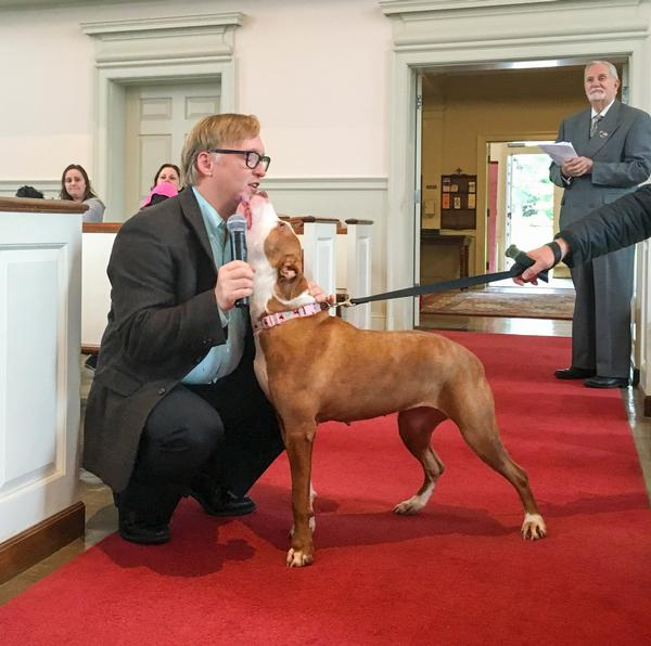 Blessing of the Animals at First Baptist Church of White Plains