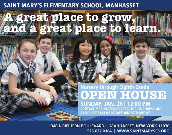 Open House for Admissions at St. Mary's Elementary School