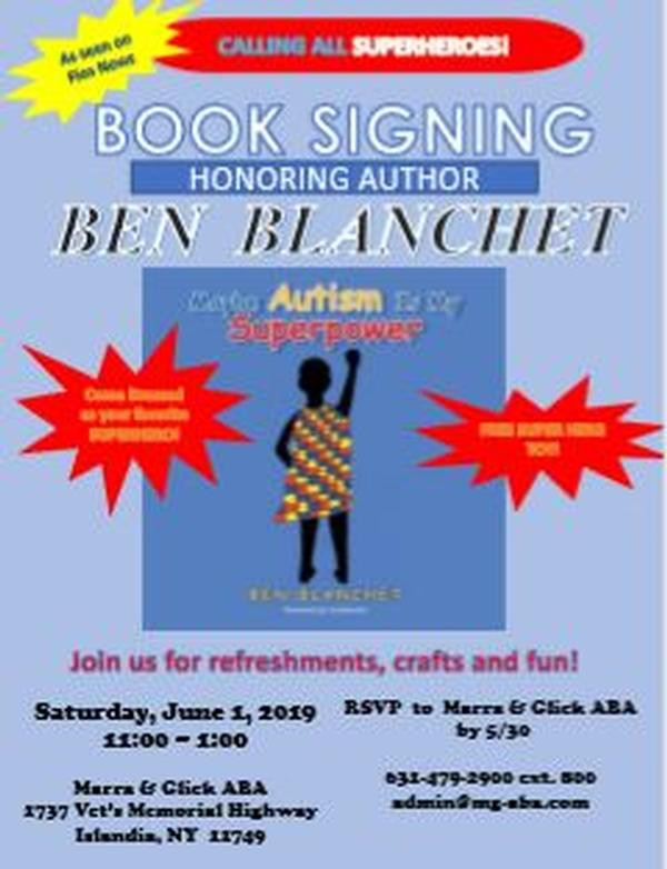 Book Signing in Honor of First Time Author Ben Blanchet at Marra & Glick ABA, PLLC