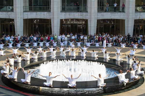 The Table of Silence Project 9/11 at Lincoln Center Josie Robertson Fountain Plaza