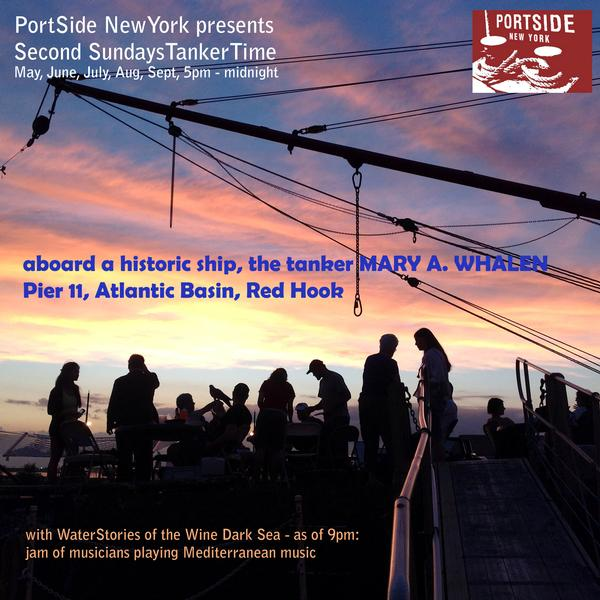 Sunset TankerTime, Second Sundays at Aboard the MARY A. WHALEN