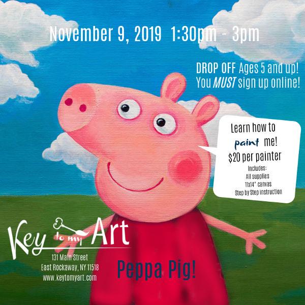 Peppa Pig Paint Event at Key to My Art East Rockaway