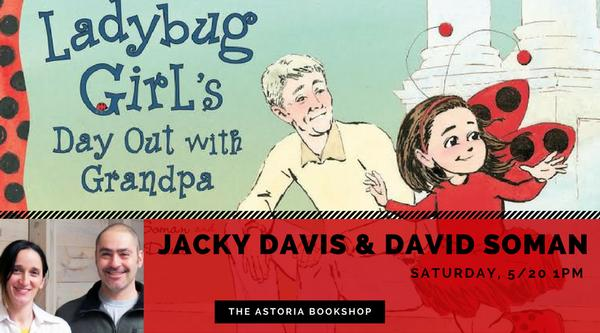Ladybug Girl storytime with David Soman & Jacky Davis at The Astoria Bookshop