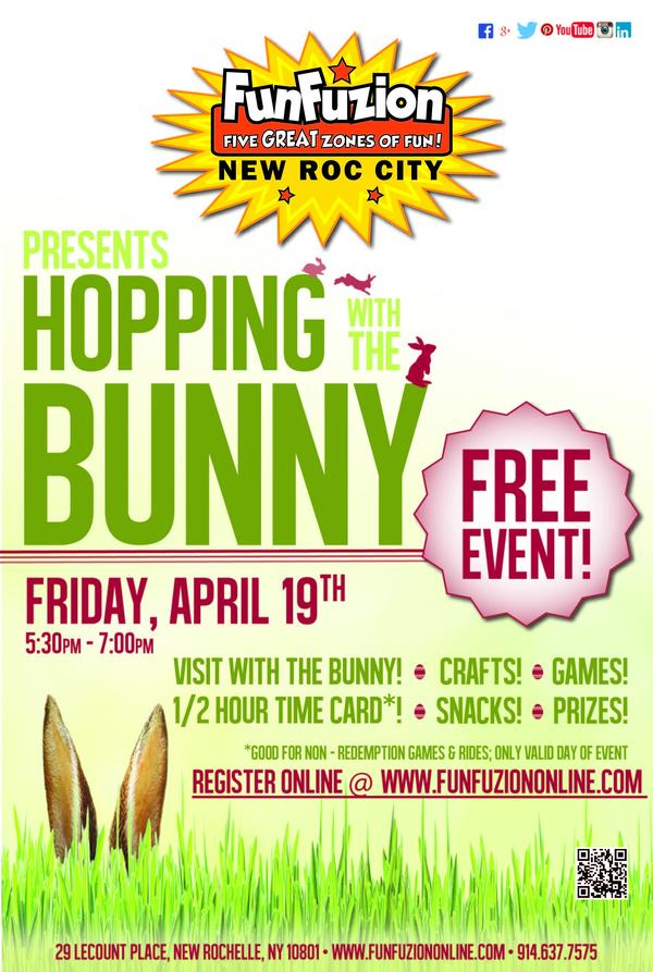 Hopping with the Bunny at FunFuzion at New Roc City