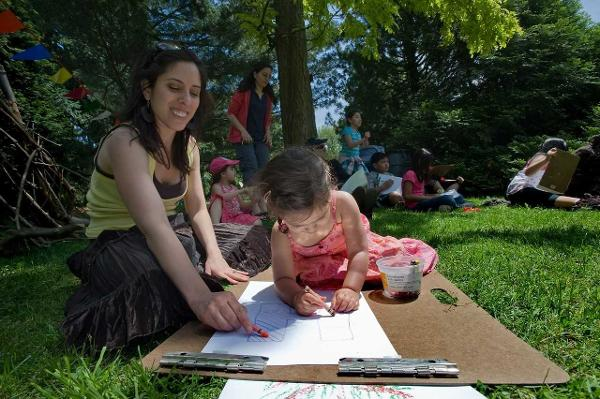 Family Art Project: Shadow Play at Wave Hill