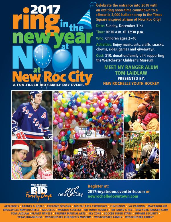 8th Annual 'Ring in the New Year at Noon' at New Roc City