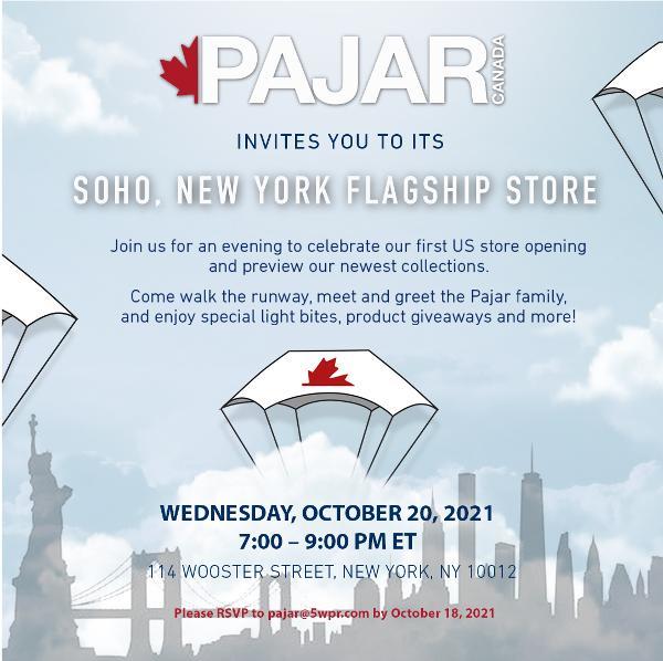 Pajar U.S. Flagship Store Grand Opening at Pajar Soho Store