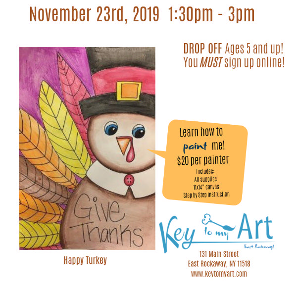 Thanksgiving Paint Event at Key to My Art East Rockaway