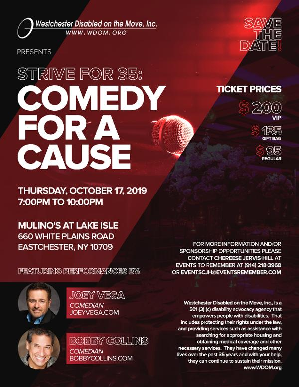 Comedy for a Cause at Mulino's at Lake Isle