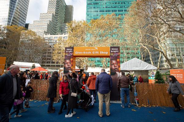World Vision's Give-Back Gift Shop at Bryant Park