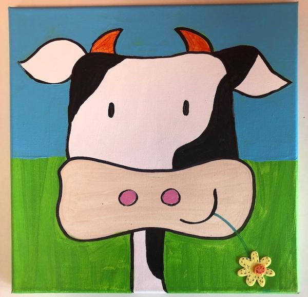 Cow Painting at Creative Corner of Larchmont