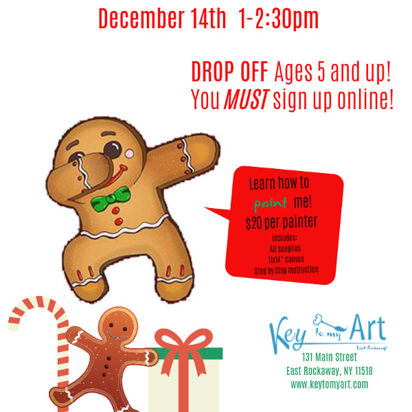 Gingerbread Paint Event at Key to My Art East Rockaway