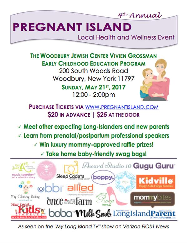 4th Annual Pregnant Island Health and Wellness Event at Woodbury Jewish Center Vivien Grossman Early Childhood Education Program