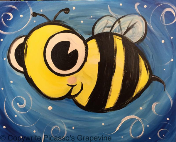 Bee Painting at Creative Corner of Larchmont