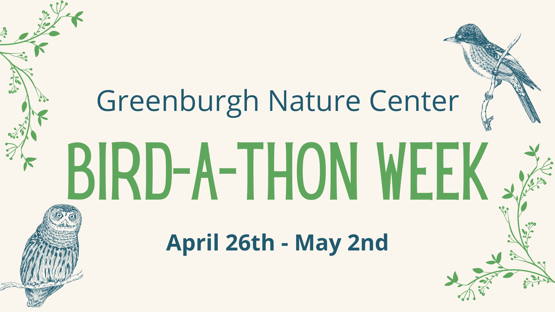 Bird-a-thon at Greenburgh Nature Center