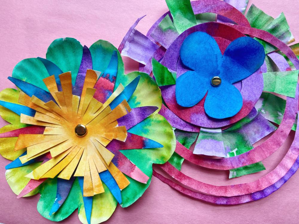Painted Paper Flowers at Children's Museum of Manhattan