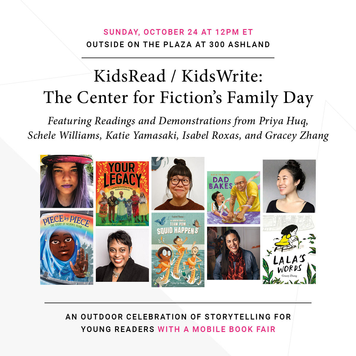 KidsRead / KidsWrite: The Center for Fiction's Family Day at The Plaza at 300 Ashland